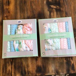 Peek a Boo organic cotton muslin swaddle blanket